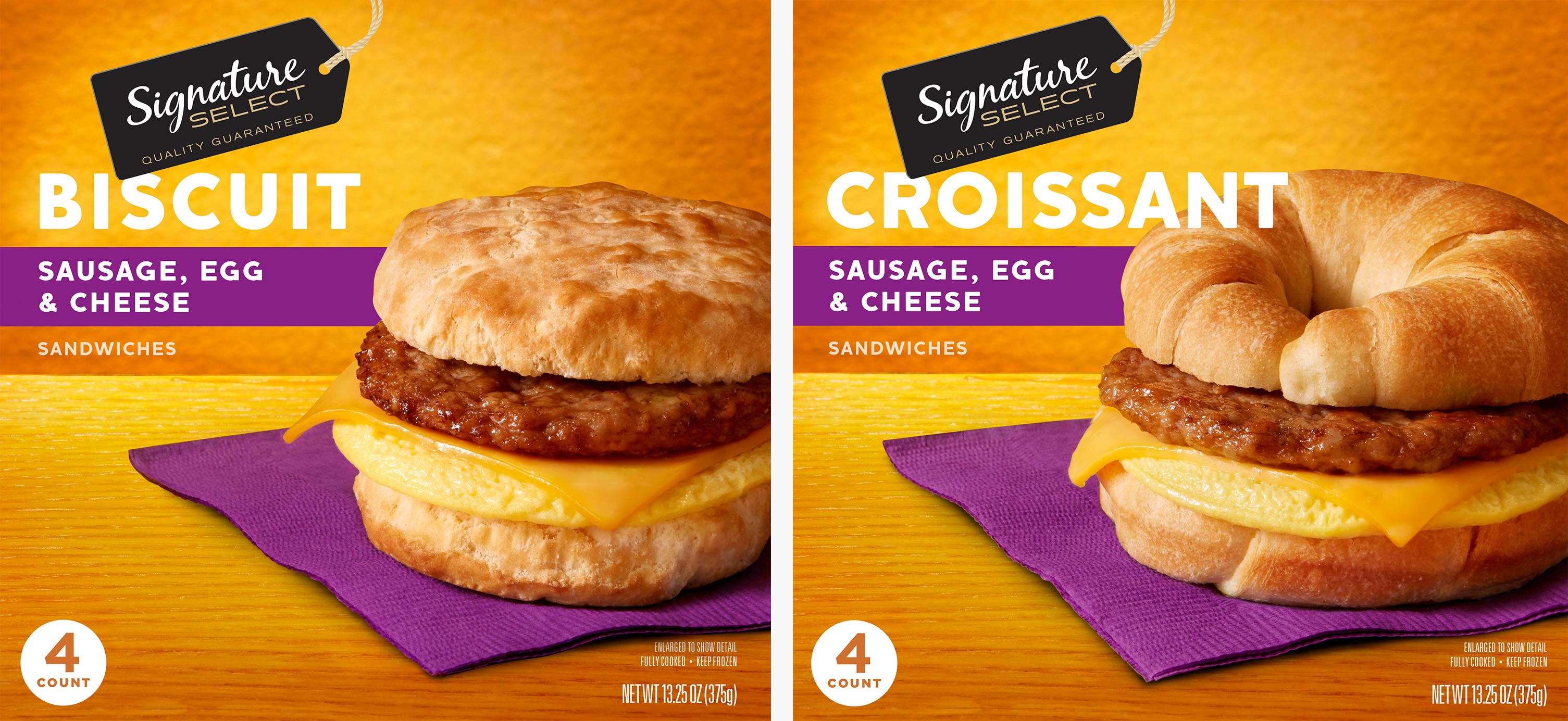 Signature Select Breakfast Sandwiches