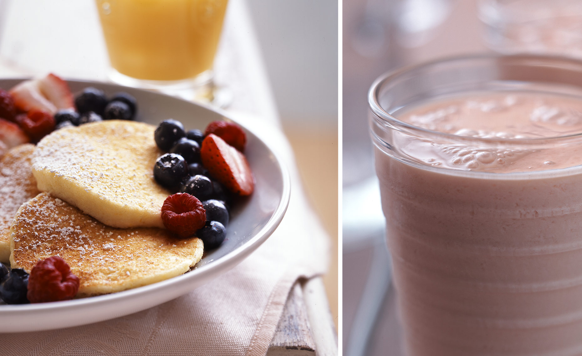 Cornmeal Pancakes & Smoothie